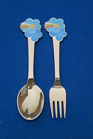 Silver Anton Michelsen Sterling Silver Christmas Fork 1975