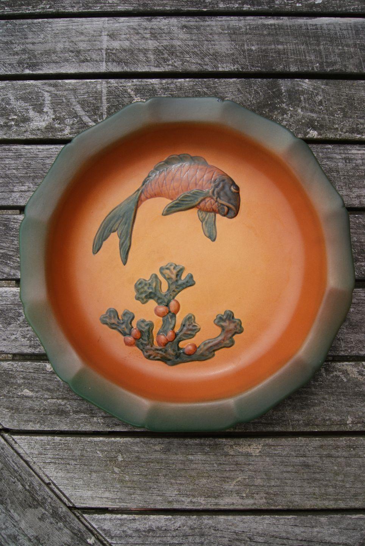 ipsen keramik Antikkram   Ipsen keramik, stor skål med fisk og tang. ipsen keramik